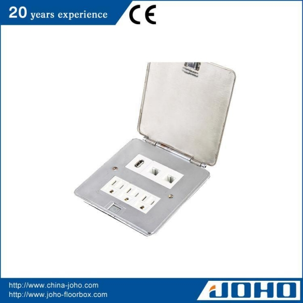 Buy Ultrathin Square Shape Stainless Steel Floor Sockets at wholesale prices