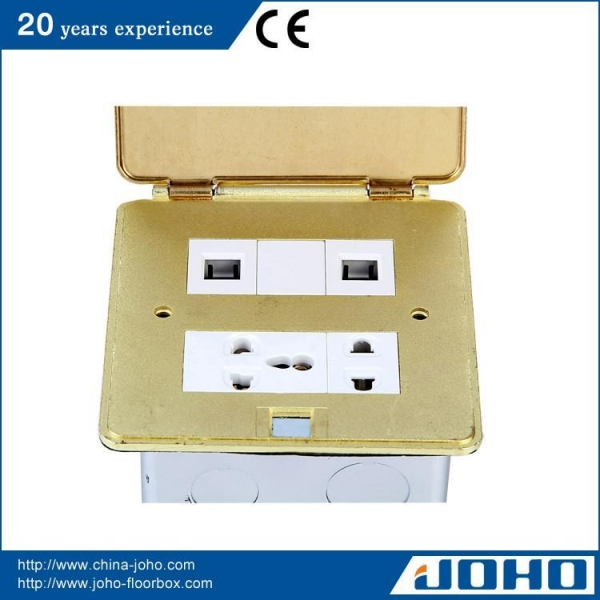 Buy Ultrathin Square Shape Brass Floor Socket at wholesale prices