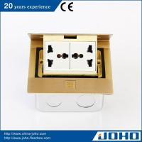 Brass Square Shape Pop Up Floor Power Outlet