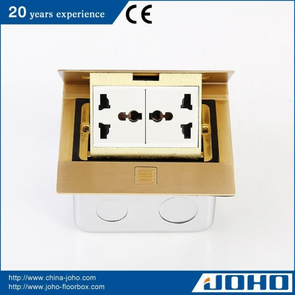 Buy Brass Square Shape Pop Up Floor Power Outlet at wholesale prices