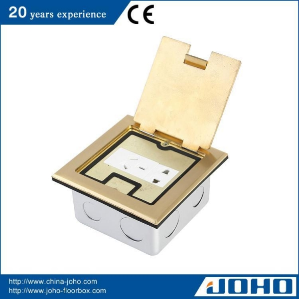 Buy Square Shape Brass Electrical Floor Socket at wholesale prices