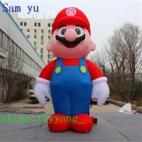 Quality Giant Christmas Super Mario Inflatable Costume for sale