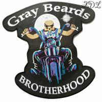 China Embroidery Biker Patch brotherhood 30.5x28.5cm on sale