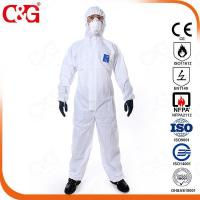 Quality SMS chemical resistant coveralls for sale