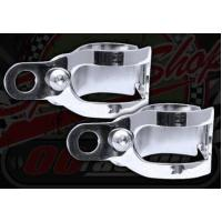 CONTROLS Bracket. Indicator/Flasher mounts. Fork leg fitment. 30mm to 40mm range