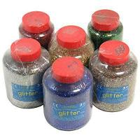 Quality Bumper Art & Craft Glitter Flakes Set 6x400g Tubs by Anthony Peters for sale