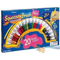 Quality Squeeze N Brush Childrens Non Toxic Washable 2 in 1 Paint Tubes Art Craft Set from MTS for sale