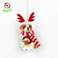 NEW Arrival Decorative Resin Dog Christmas Ornaments