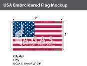USA USA Embroidered Flags 3x5 foot (Made in the USA)