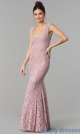 China Lace Sweetheart Long Prom Dress with Back Cut Out LP-PL-25066