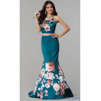 Buy cheap Halter Top Two-Piece Long Mermaid Prom Dress BL-11137T from wholesalers