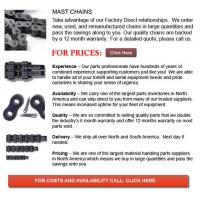 Forklift Parts For Sale Mast Chain