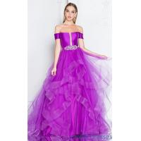 Quality Short-Sleeved Long Prom Ball Gown with Beading TI-1811P5838 for sale