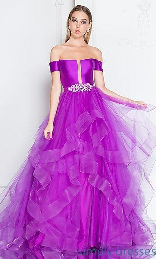China Short-Sleeved Long Prom Ball Gown with Beading TI-1811P5838