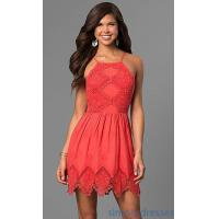 Quality Short Lace Graduation Party Dress with Keyhole Back VE-865-211032 for sale