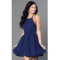 Quality Open-Back Navy Blue Short Cocktail Party Dress CQ-3478DW for sale