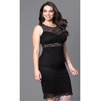 Quality Fitted Short Lace Plus-Size Cocktail Party Dress MB-MX1349 for sale