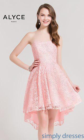 China Lace High-Low Homecoming Dress AL-3696