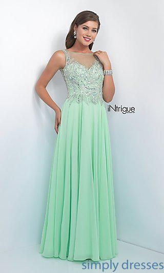 China Intrigue by Blush Floor Length Prom Dress BL-IN-165
