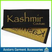 Buy cheap Custom Garment Made Branding Sewing Gold Metallic Woven Labels from wholesalers