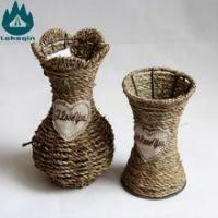 China Natural Handmade Baskets Sea Grass Flower Basket, Arrange Artificial Flower Vase on sale