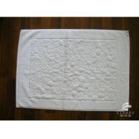China 100% Combed Cotton White Terry Bath Mat For Hotel Plain or Dobby on sale