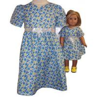 Buy cheap Blue Party Dress Size 4 fits Girl and 18 Inch Doll from wholesalers