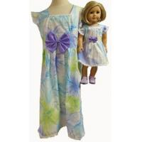 China Girl and Doll Matching Clothes Pastel Dress Size 8 on sale