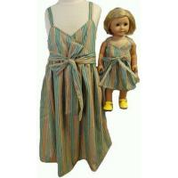 Buy cheap Girl And Doll Matching Clothes Green Sundress Size 8 from wholesalers