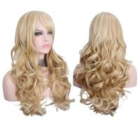 Buy cheap Long Blonde Wigs with Bangs Heat Resistant Synthetic Wigs for Women from wholesalers