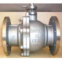 Buy cheap DN100 Stainless Steel Pneumatic Ball Valve / Floating Ball Valve With Flange Connection from wholesalers