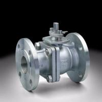 Buy cheap Flange Connection 2 Way Ball Valve , Grey Color Pneumatic Actuated Ball Valve from wholesalers