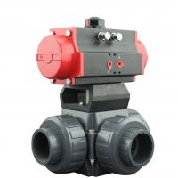 Buy cheap PVC Plastic Actuator Pneumatic Ball Valve 2 Way / 3 Way With L Type T Type from wholesalers