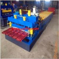 Buy cheap Hydraulic Glazed Roof Tile Cold Roll Forming Machine from wholesalers