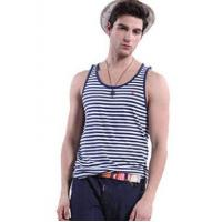 China Men's Casual Scoop Neck Stripe Styling Vest for Summer 88/34 on sale
