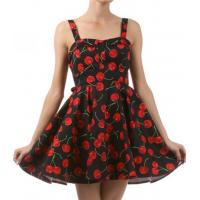 China Darling Dress Black Cherry Fold Over Pinup Dress on sale