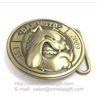 Buy cheap Custom design Zinc alloy belt buckle for leather belt from wholesalers