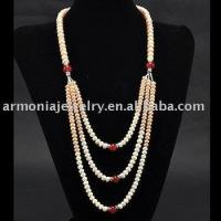 "Colors of Autumn Gold and Winter Raspberry! 32"" Silk Flower Freshwater Pearl Necklace PJNL1692"