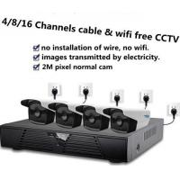 Quality Cable free wifi free new cctv system 1080p 4 ipc one nvr plus net adapters for sale