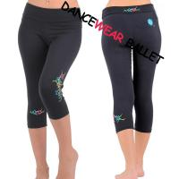 Quality Fancy Printed Active & Fitness Dance Capri Pants for sale