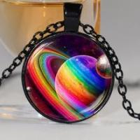 Quality The PLANET - Rainbow Planet Pride Necklace - Various Colours for sale