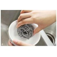 Quality Spiral Design Stainless Steel Scrubber Pads For Home And Kitchen Cleaning for sale