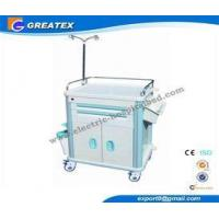 China Utility hospital crash cart trolley With four plastic - steel columns , Dust basket on sale