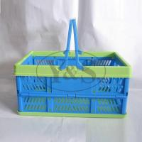 Quality Injection plastic folding basket, injection plastic vegetable/ fruit/washing basket mould, for sale