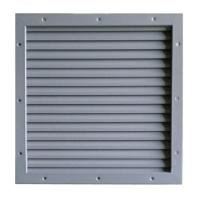 LV610x610 Steel Louver Inserts With Inverted Y Blades For Fire Exit Doors