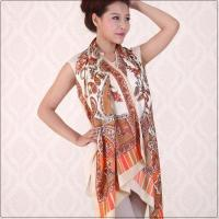 China Fashion Scarves High Quality Multi Colors Fashion Silk Scarves for Women Model: SFSNQFDZ001 on sale