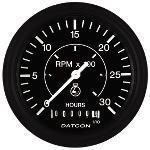"Tachometer with Hourmeter (86mm/3.375""), P/N 103678"