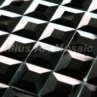 Quality Black glass mosaic mirror D11272 for sale