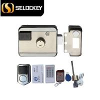 Keyless electronic rim lock with remote control and wireless alarm door lock(LY09BM6B1)