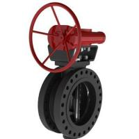 Quality Three eccentric worm gear butterfly valve for sale